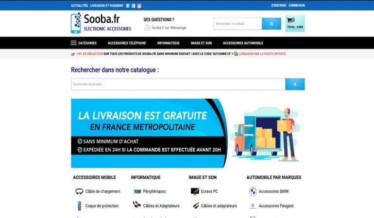 Accessoires sur Sooba.fr