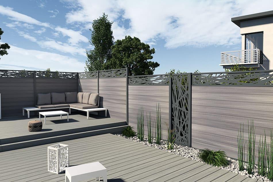 clôture composite